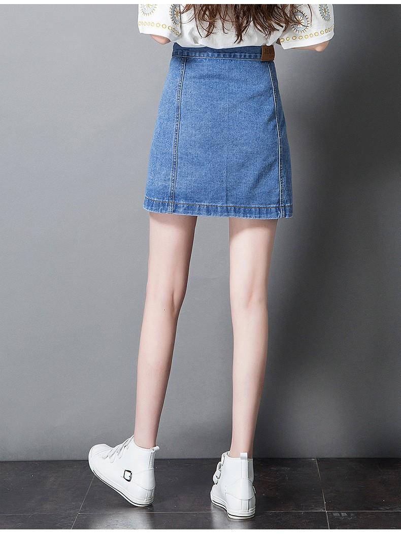 chân váy jean cài nút  thêu hoa TB0508 7