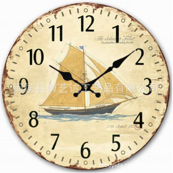 Đồng hồ treo tường con thuyền - 128