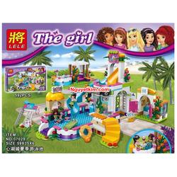 Lego Friend mô hình bể bơi mùa hè thành phố Hồ Trái Tim