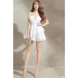 Đầm trắng hai dây sexy