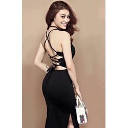 Đầm body sexy xẻ tà