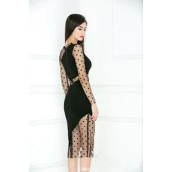 Đầm body phối lưới sexy