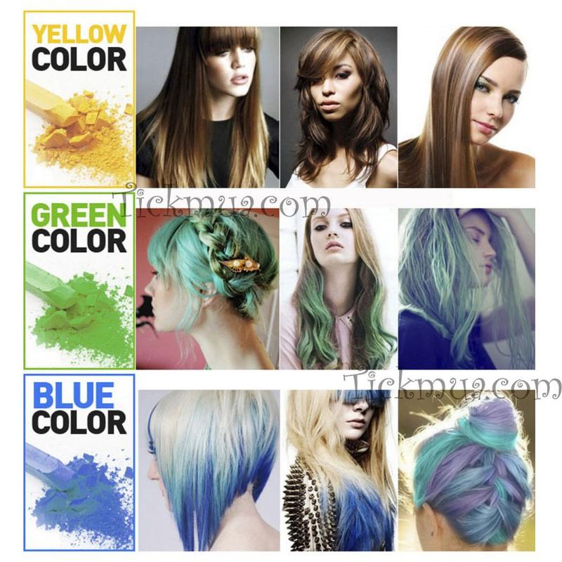 Set phấn nhuộm tóc 12 màu Joyous 2