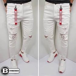 Quần Jean rách màu trắng