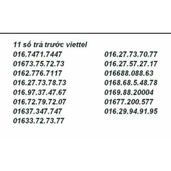 sim 11 số