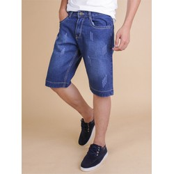 Quần Short Jeans Nam Wash Rách
