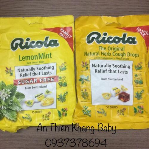 Kẹo ricola có thể dùng cho người tiểu đường  ăn kiêng
