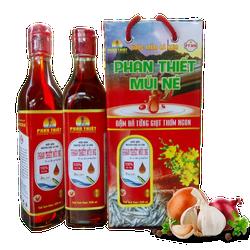 Nước mắm nguyên chất cá cơm Phan Thiết - Mũi Né 30N thùng 12 chai