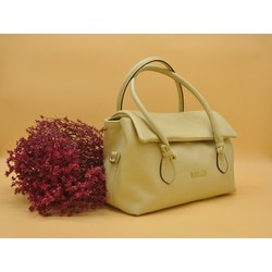 Túi xách tay thời trang Polevan màu be MB07 Da bò thật