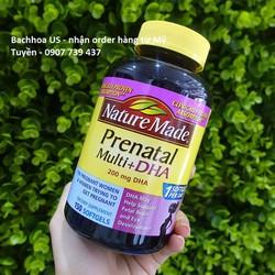 Vitamin tổng hợp cho bà bầu Nature Made Prenatal multi + DHA 150 viên