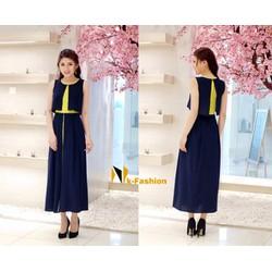Đầm Maxi phối màu