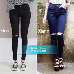Quần Jeans Nữ Rách Gối có Size Lớn 26-35