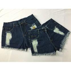Quần đùi jeans nữ bụi bặm
