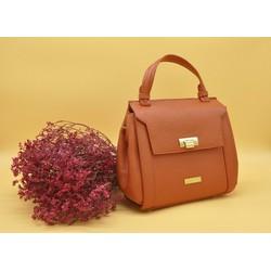 Túi xách thời trang da thật màu cam Polevan MB05