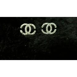 bông tai bạc Chane hàng cao cấp bạc ý- bạc 925