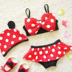 Đồ bơi, đồ tắm, bikini bé gái 3 mảnh Chuột Mickey