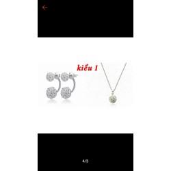 mặt dây chuyền bạc và bông tai bạc cao cấp