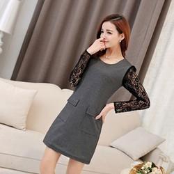 Đầm phối tay ren cao cấp nhập Quảng Châu-Shop LucyLucy274
