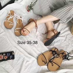 Giày sandal cột dây thời trang nữ