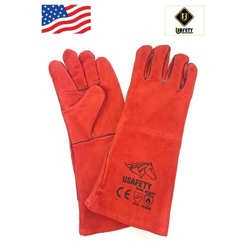 Găng tay da thợ hàn Usafety - màu đỏ - 5281889 , 8770209 , 15_8770209 , 179000 , Gang-tay-da-tho-han-Usafety-mau-do-15_8770209 , sendo.vn , Găng tay da thợ hàn Usafety - màu đỏ