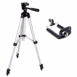 Bộ chân máy ảnh tripod + kẹp điện thoại