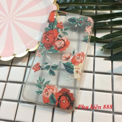 Ốp lưng Iphone 6 Plus nhựa cứng hình hoa đính đá