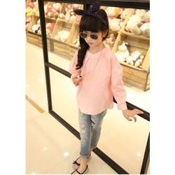 Áo sơmi hồng quảng châu kiểu bé gái size đại