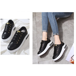giày thể thao nữ độn đế cực đẹp màu đen