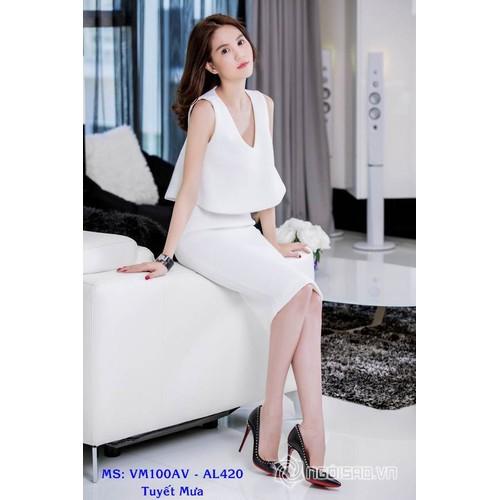 Set Áo Kiểu Xòe Váy Bút Chì Sang Trọng