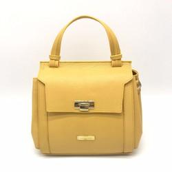Túi xách thời trang da thật màu vàng Polevan MB05