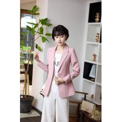 Áo vest Nữ ANN64 màu hồng tay dài fomr dài nhập khẩu CAO CẤP CHUẨN