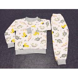 Bộ áo quần dài chất liệu thun nỉ cho bé trai - SongNgan Store
