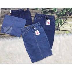 Chân váy nữ jeans nút S1001