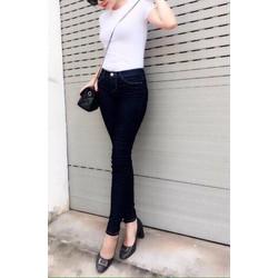 Quần jeans nữ màu xanh đen hàng shop cao cấp