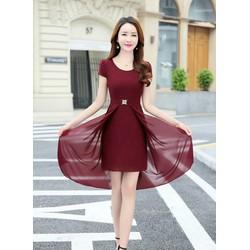 Đầm xòe chiffon đẹp