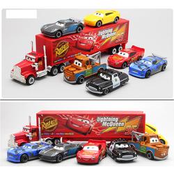Bộ xe tải Lightning MC Queen và 06 xe car 3 đồ chơi trẻ em bằng sắt và nhựa