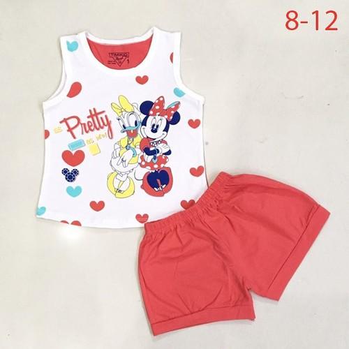 Bộ thun mặc nhà bé gái 5-8 tuổi