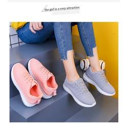 giày sneaker nữ siêu đẹp màu hồng