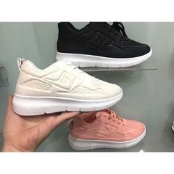 giày thể thao nữ siêu êm màu trắng
