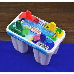 Khuôn Làm Kem 4 Que Nhựa Nhật Bản An Toàn