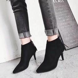 Giày boot nữ cổ cao sành điệu