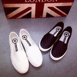 Giày lười nữ vân đẹp