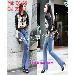 Quần jean nữ quảng châu xanh nhạt ống loe thời trang QJL36