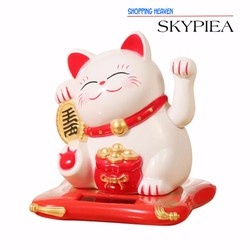 Mèo Thần Tài Trang Trí Để Bàn Cửa Hàng, Ô Tô - Màu sắc ngẫu nhiên