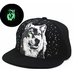Nón Snapback dạ quang hình sói cực cool phong cách cho bạn trẻ