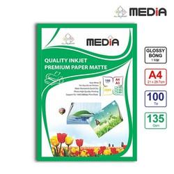 Giấy in ảnh Media 1 mặt bóng A4 135gsm 100 tờ
