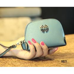 Bóp tiền nữ mini 1 ngăn xinh xắn thời trang màu xanh