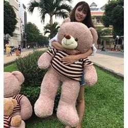 RẺ NHẤT - Gấu Teddy lông xù áo len khổ m2 - Gấu bông Teddy siêu hot