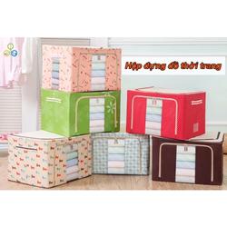 Tủ vải đựng chăn màn Leving box 100 lít
