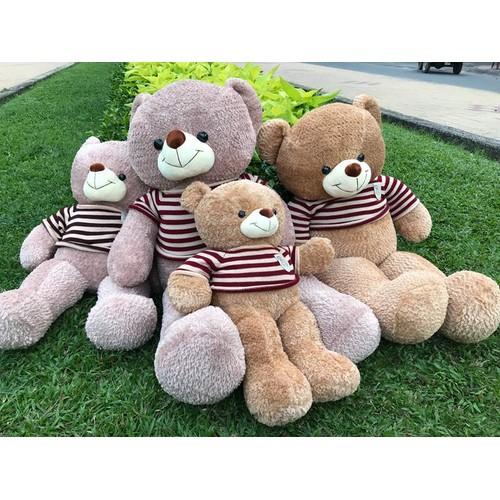 RẺ NHẤT - Gấu Teddy lông xù áo len khổ 1m - Gấu bông Teddy siêu hot